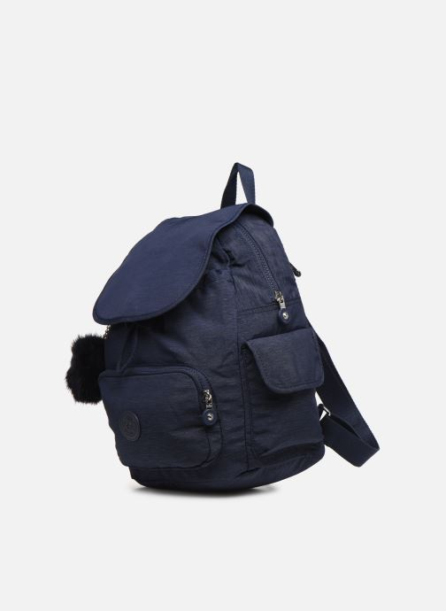 Mochilas Kipling City pack S Azul vista del modelo