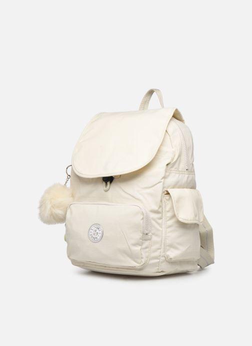 Sacs à dos kipling City pack S Blanc vue portées chaussures