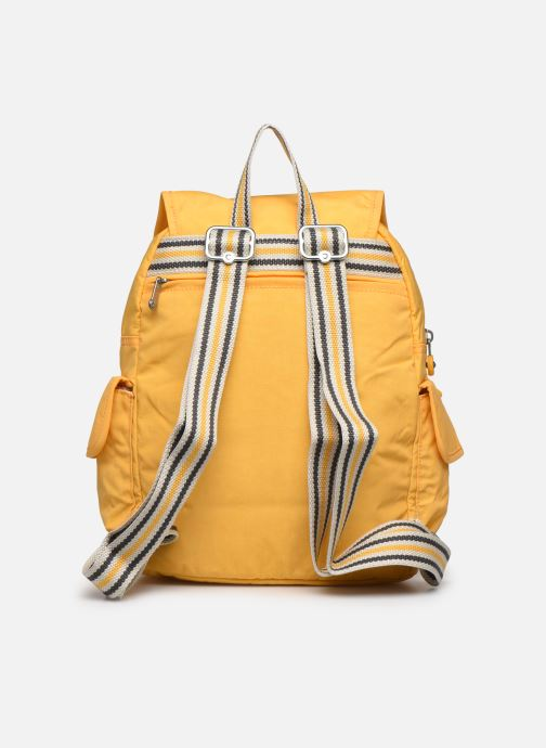 Mochilas Kipling City pack S Amarillo vista de frente