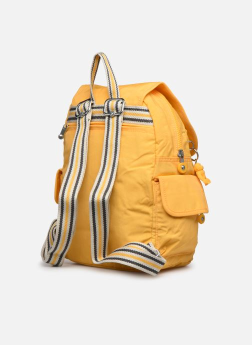 Mochilas Kipling City pack S Amarillo vista lateral derecha