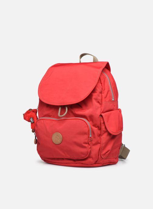 Zaini Kipling City pack S Rosso modello indossato
