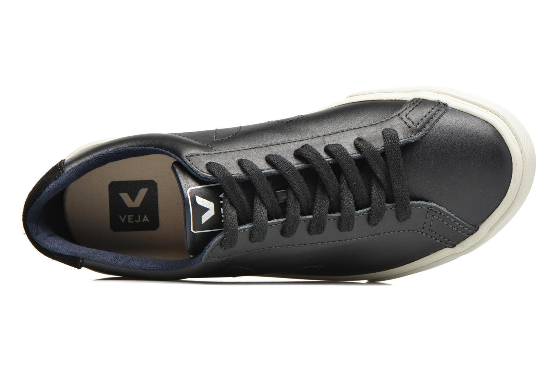 Baskets Veja Esplar Low Leather Noir vue gauche