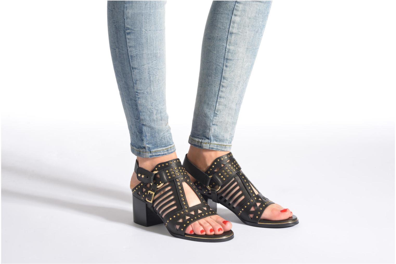 Sandales et nu-pieds SENSO MACKENZY Noir vue bas / vue portée sac
