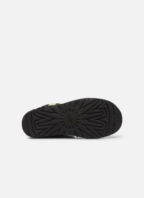 Stivaletti e tronchetti UGG Mini Bailey Button Fancy Nero immagine dall'alto