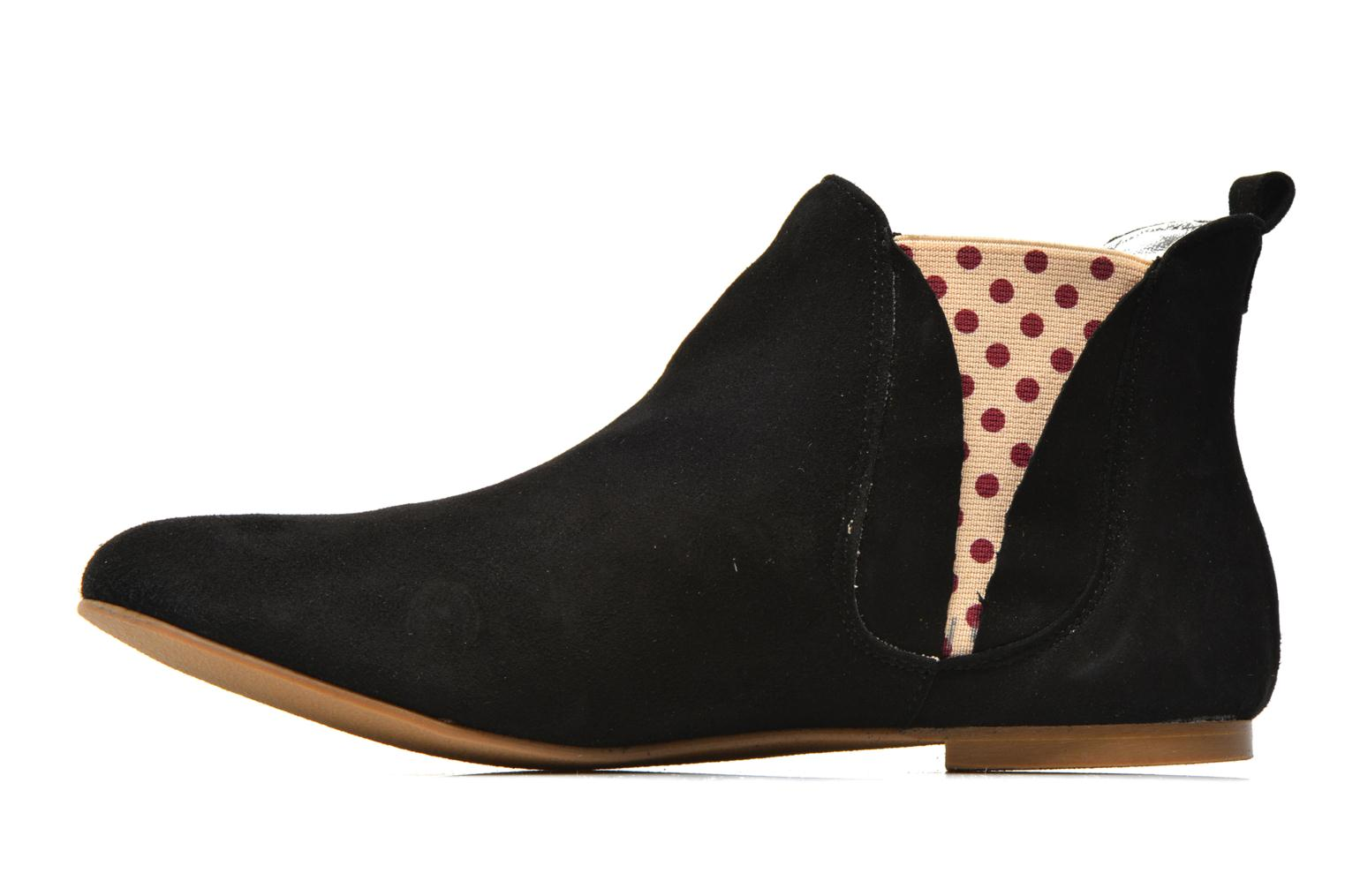 Ankle boots Ippon Vintage Sun flydots Black front view