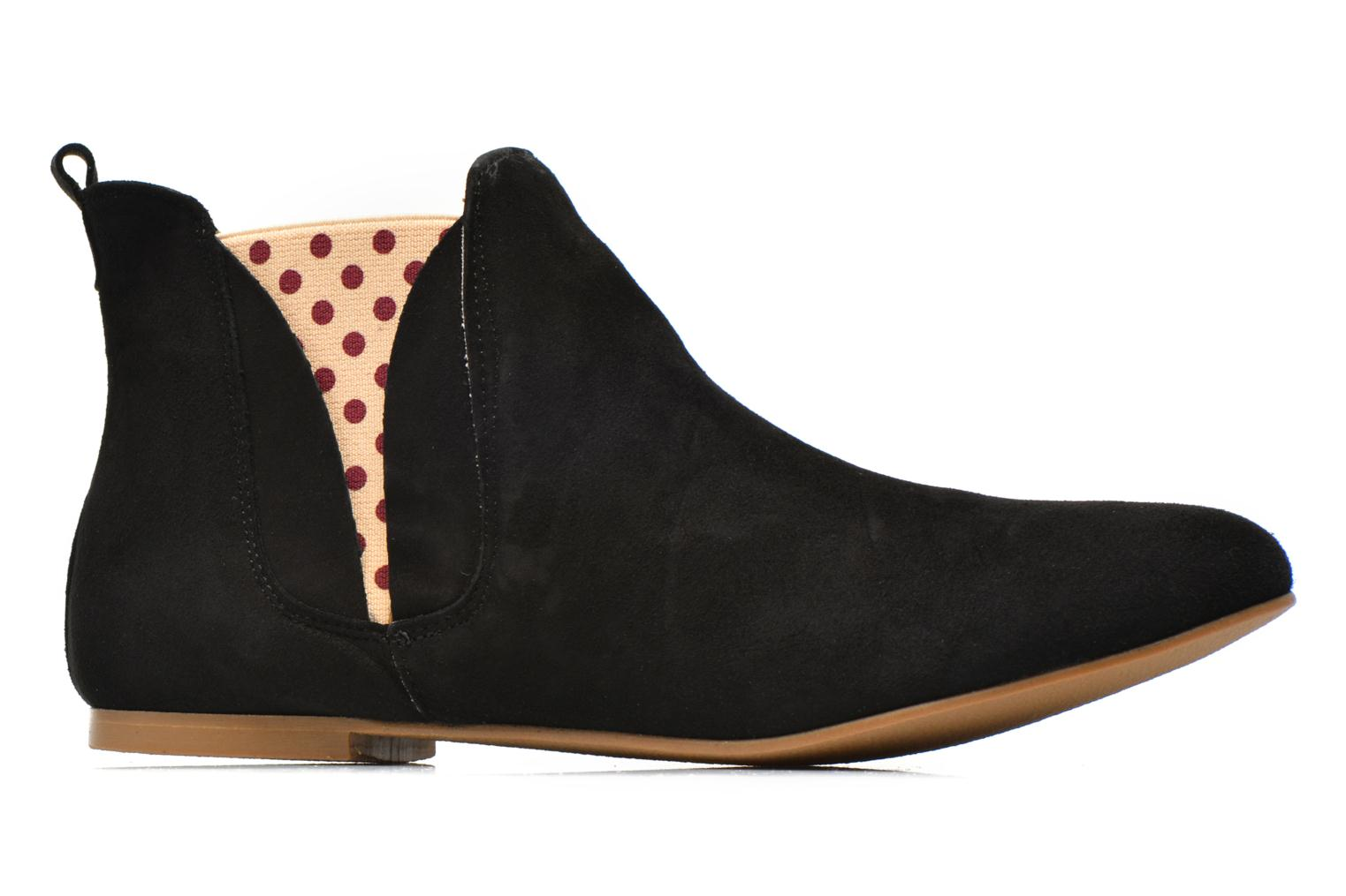 Ankle boots Ippon Vintage Sun flydots Black back view
