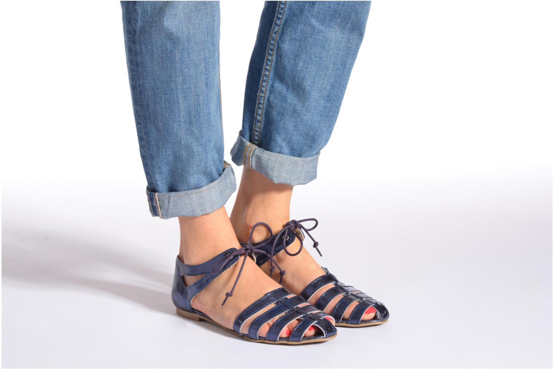 Sandales et nu-pieds Ippon Vintage Popies metal Argent vue bas / vue portée sac