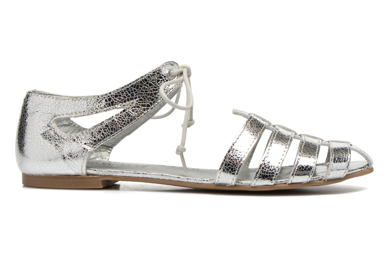 Sandales et nu-pieds Ippon Vintage Popies metal Argent vue derrière