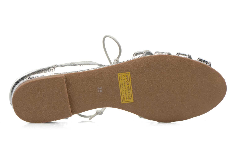 Sandales et nu-pieds Ippon Vintage Popies metal Argent vue haut