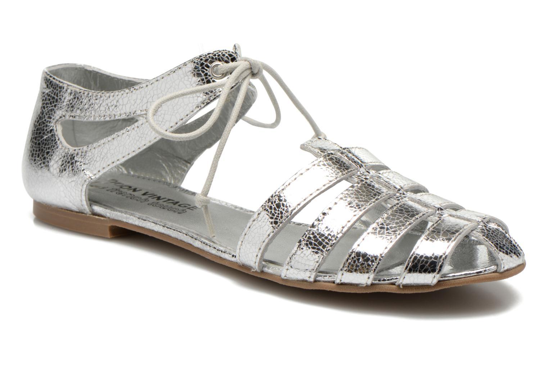 Sandales et nu-pieds Ippon Vintage Popies metal Argent vue détail/paire