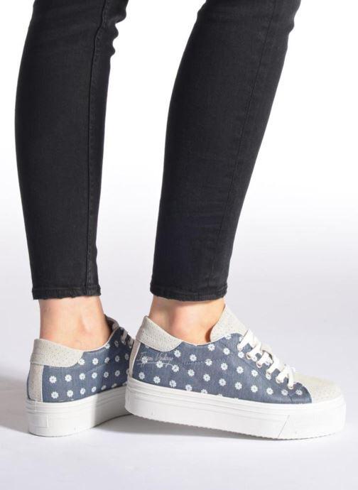Sneaker Ippon Vintage Tokyo jeans blau ansicht von unten / tasche getragen