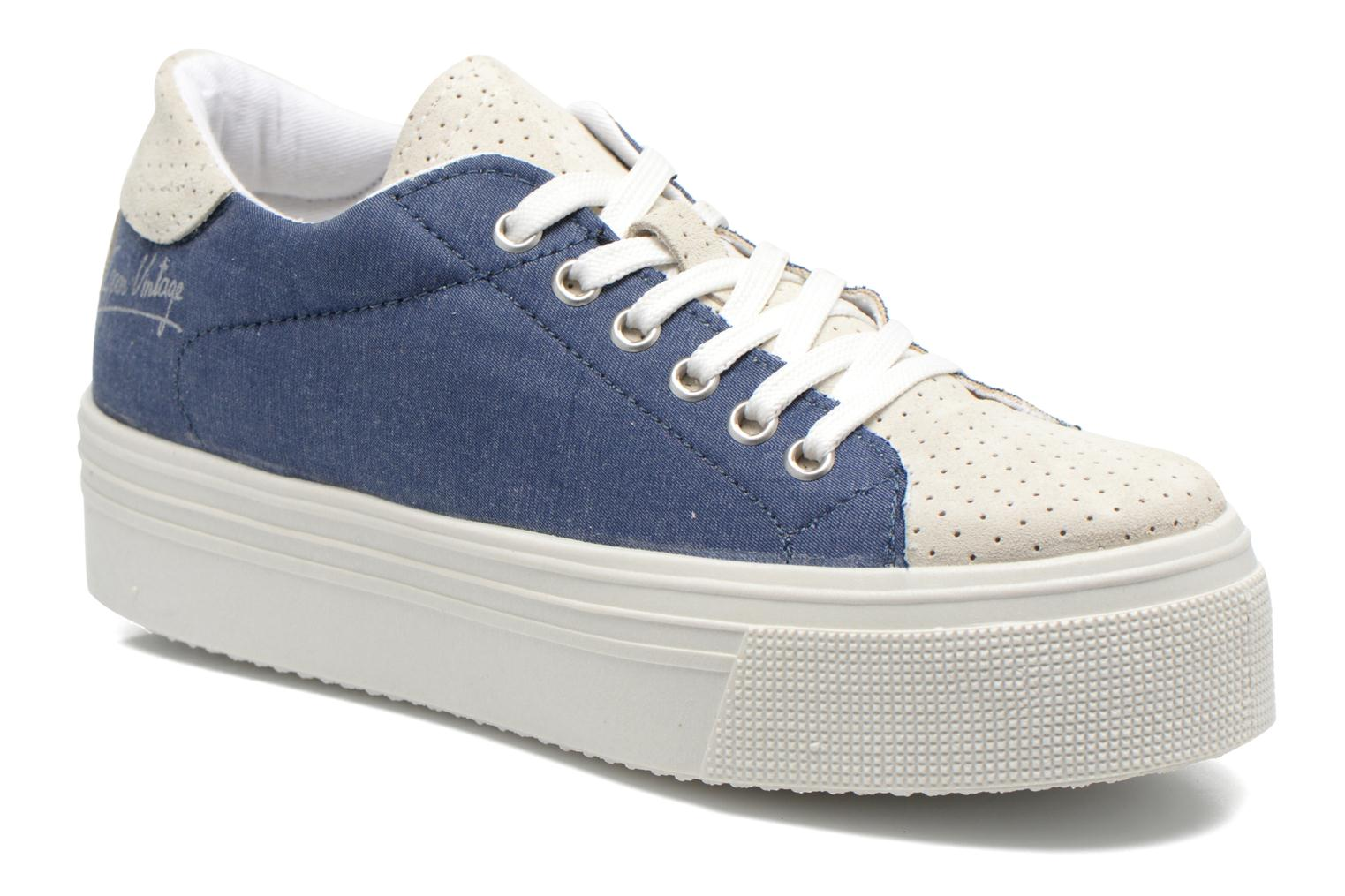 Trainers Ippon Vintage Tokyo jeans Blue detailed view/ Pair view