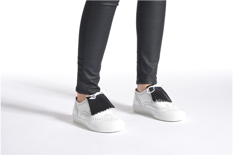 Chaussures à lacets Clergerie Tolka02 Blanc vue bas / vue portée sac