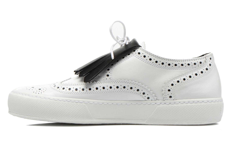 Chaussures à lacets Clergerie Tolka02 Blanc vue face