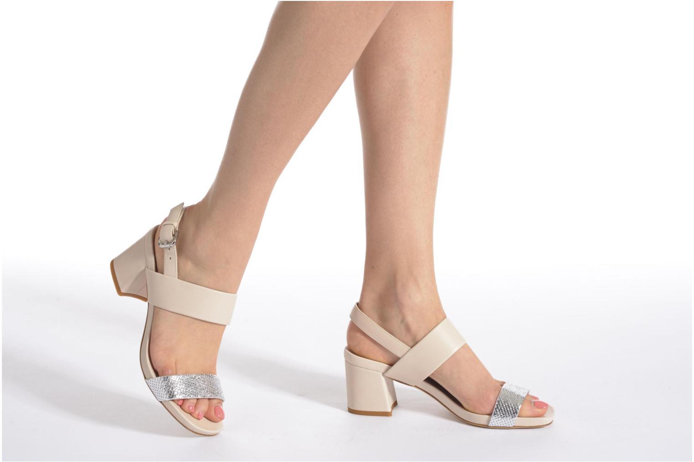 Sandales et nu-pieds Vicini Léine Beige vue bas / vue portée sac