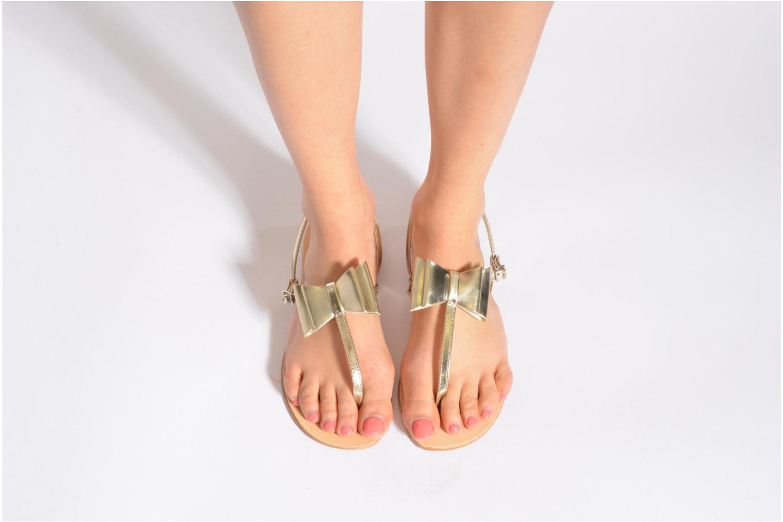 Sandales et nu-pieds I Love Shoes Donoeud Beige vue bas / vue portée sac