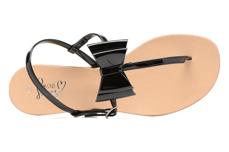 Sandales et nu-pieds I Love Shoes Donoeud Noir vue gauche