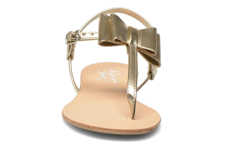 Sandales et nu-pieds I Love Shoes Donoeudou Or et bronze vue portées chaussures