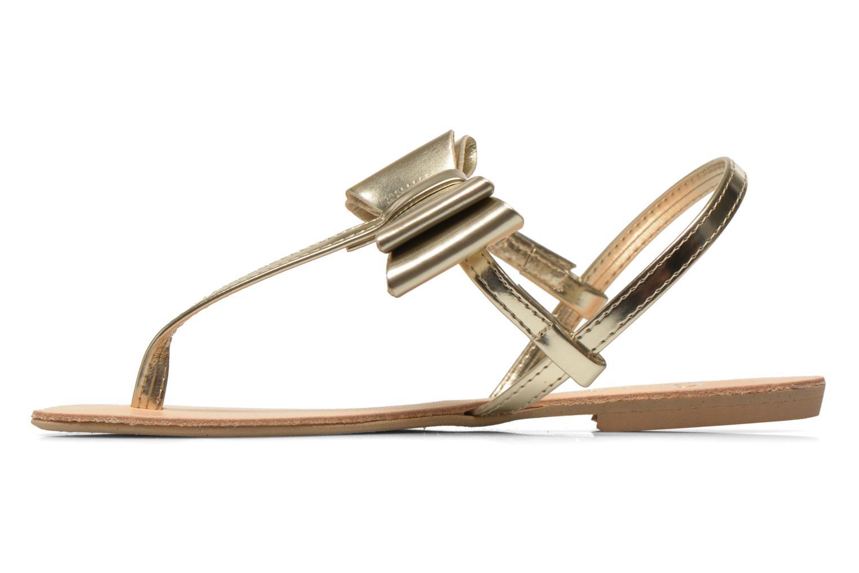Sandales et nu-pieds I Love Shoes Donoeudou Or et bronze vue face