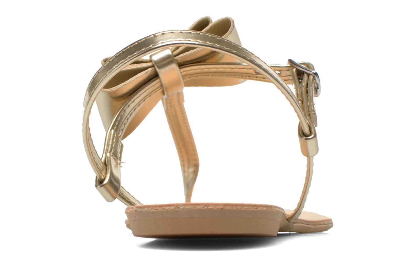 Sandales et nu-pieds I Love Shoes Donoeudou Or et bronze vue droite