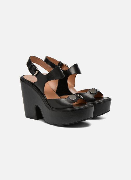 Sandales et nu-pieds Carven Elia Noir vue 3/4
