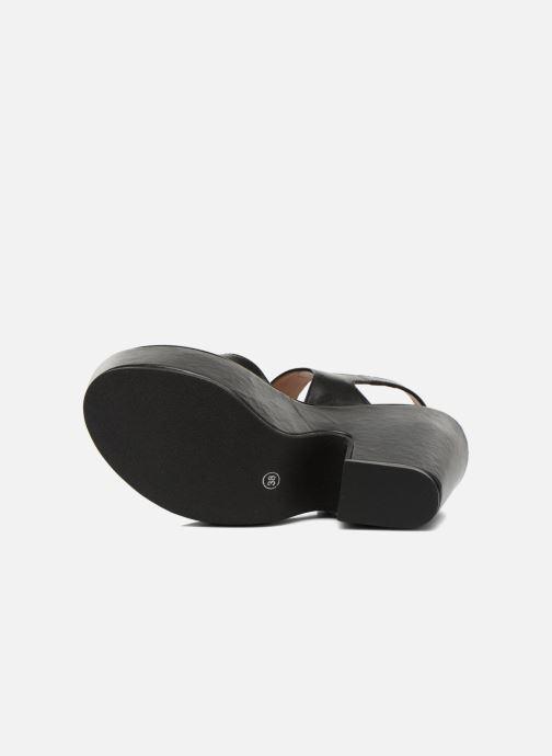 Sandales et nu-pieds Carven Elia Noir vue haut
