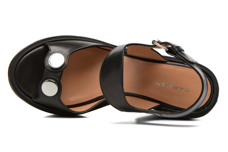 Sandales et nu-pieds Carven Elia Noir vue gauche