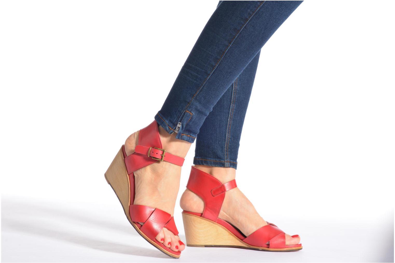 Sandales et nu-pieds Neosens Noah S216 Rouge vue bas / vue portée sac