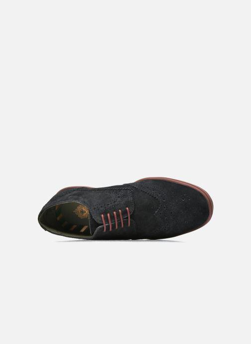 Zapatos con cordones Base London Gig Perform Azul vista lateral izquierda