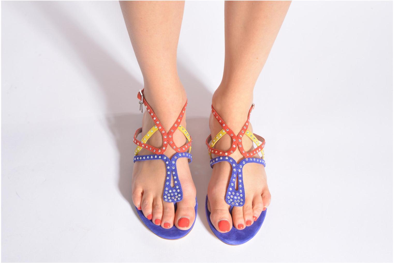 Sandales et nu-pieds Liu Jo Sandale Clio plate Multicolore vue bas / vue portée sac