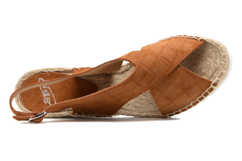 Sandales et nu-pieds SPM FISKER Marron vue gauche