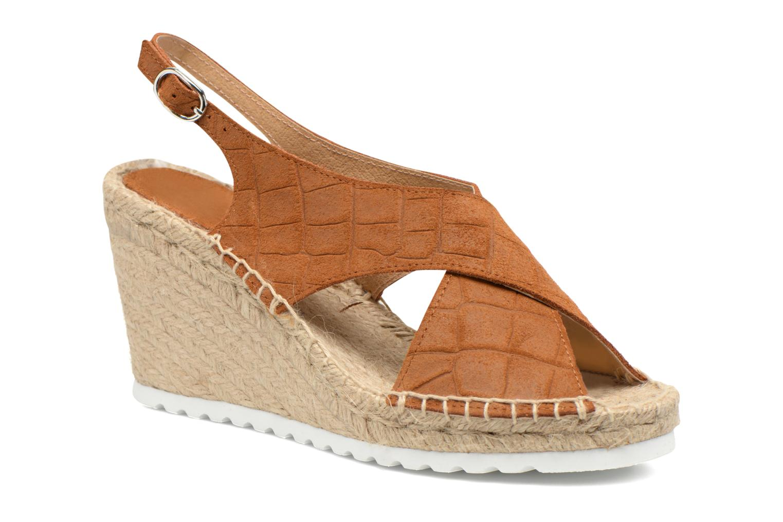 Sandales et nu-pieds SPM FISKER Marron vue détail/paire