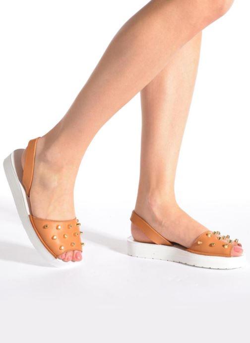 Sandales et nu-pieds MINORQUINES Creepers Marron vue bas / vue portée sac