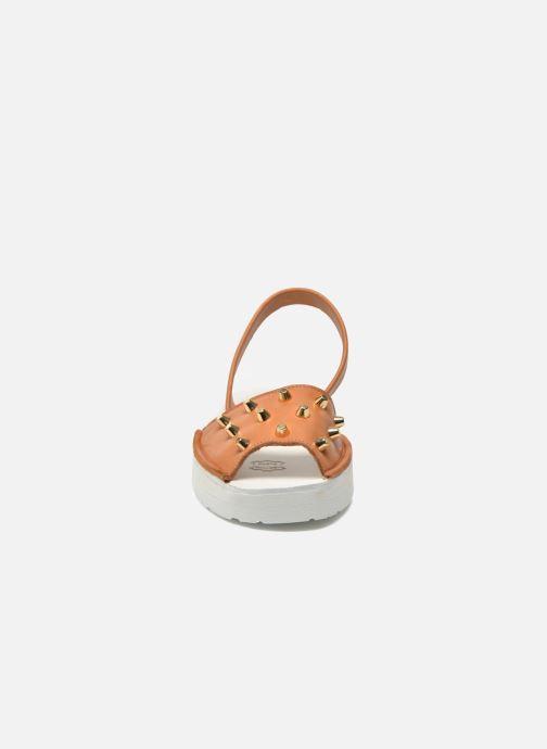 Sandales et nu-pieds MINORQUINES Creepers Marron vue portées chaussures
