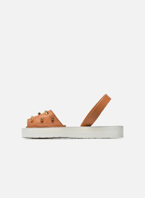 Sandales et nu-pieds MINORQUINES Creepers Marron vue face