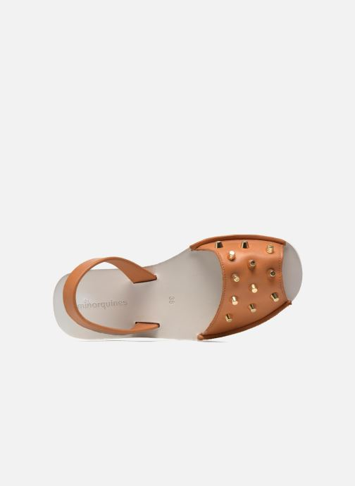 Sandales et nu-pieds MINORQUINES Creepers Marron vue gauche