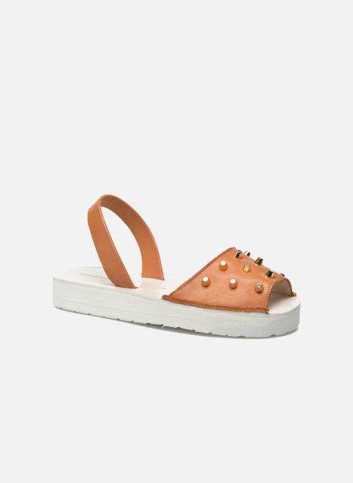 Sandales et nu-pieds MINORQUINES Creepers Marron vue détail/paire