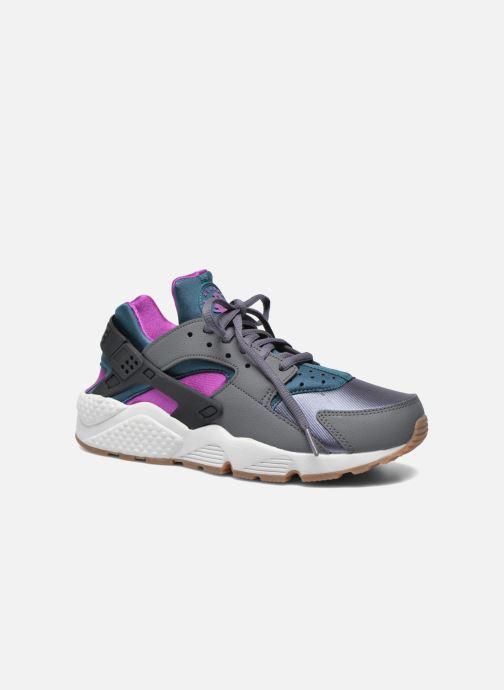 Baskets Nike Wmns Air Huarache Run Gris vue détail/paire