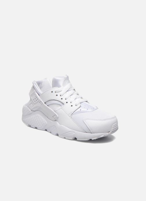 best sneakers 81b38 df3b0 Baskets Nike Nike Huarache Run (Gs) Blanc vue détailpaire