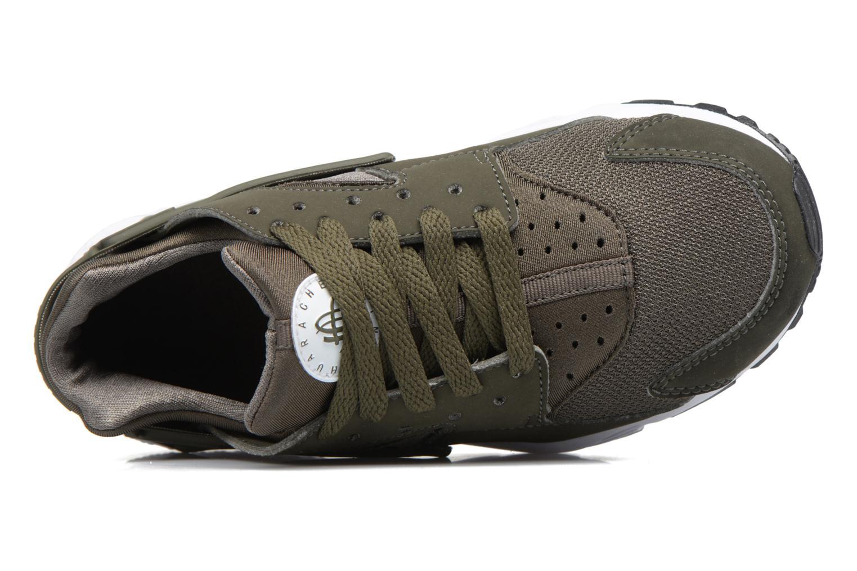 Baskets Nike Nike Huarache Run (Gs) Vert vue gauche