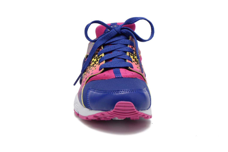 Baskets Nike Nike Huarache Run Print (Gs) Violet vue portées chaussures