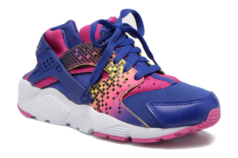 Baskets Nike Nike Huarache Run Print (Gs) Violet vue détail/paire