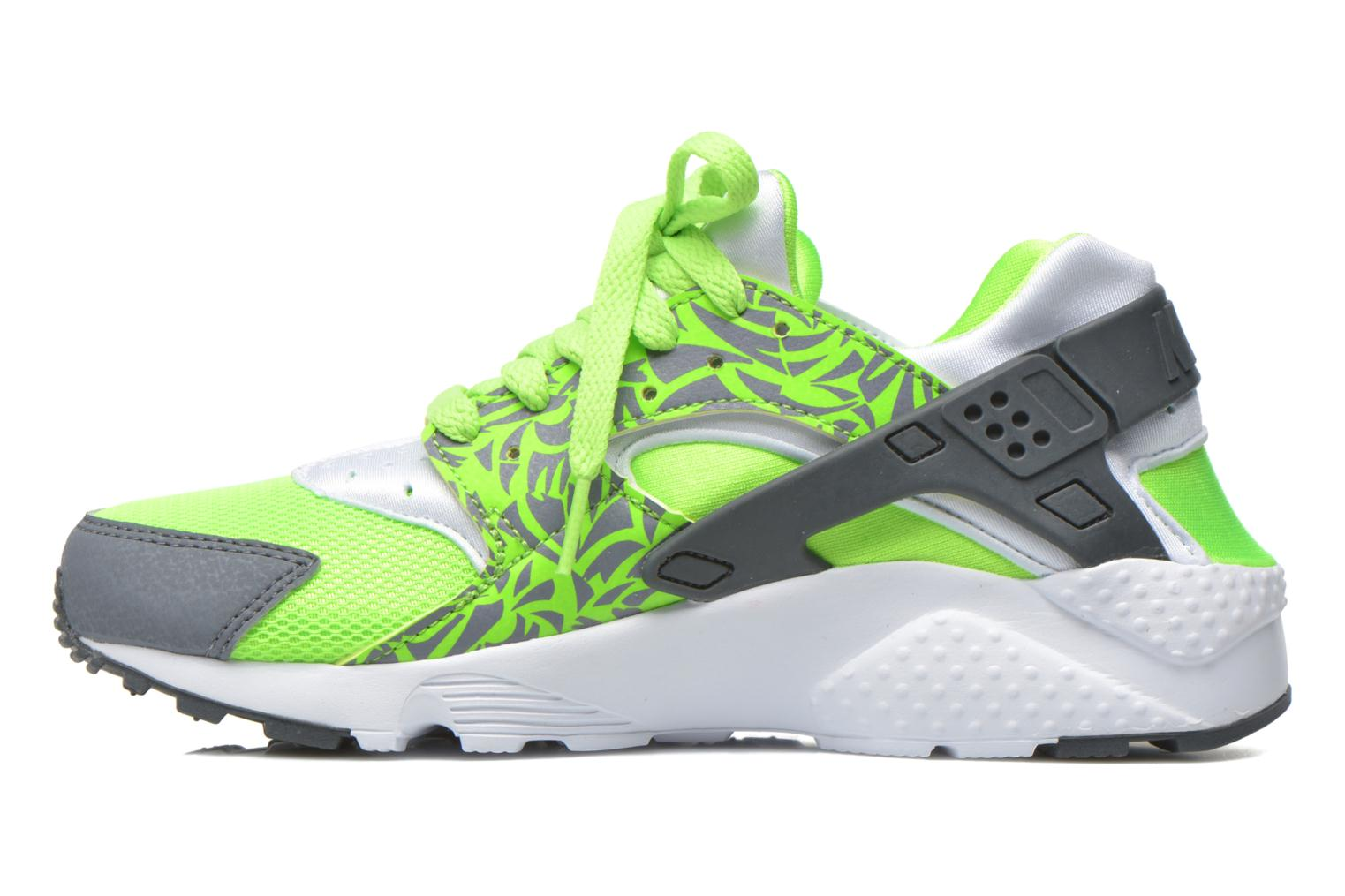Trainers Nike Nike Huarache Run Print (Gs) Green front view