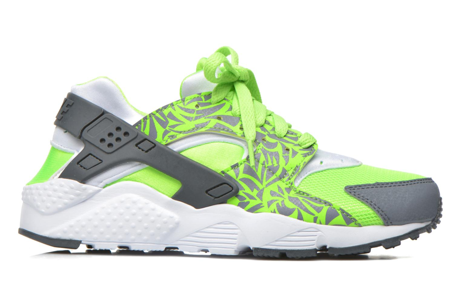 Trainers Nike Nike Huarache Run Print (Gs) Green back view