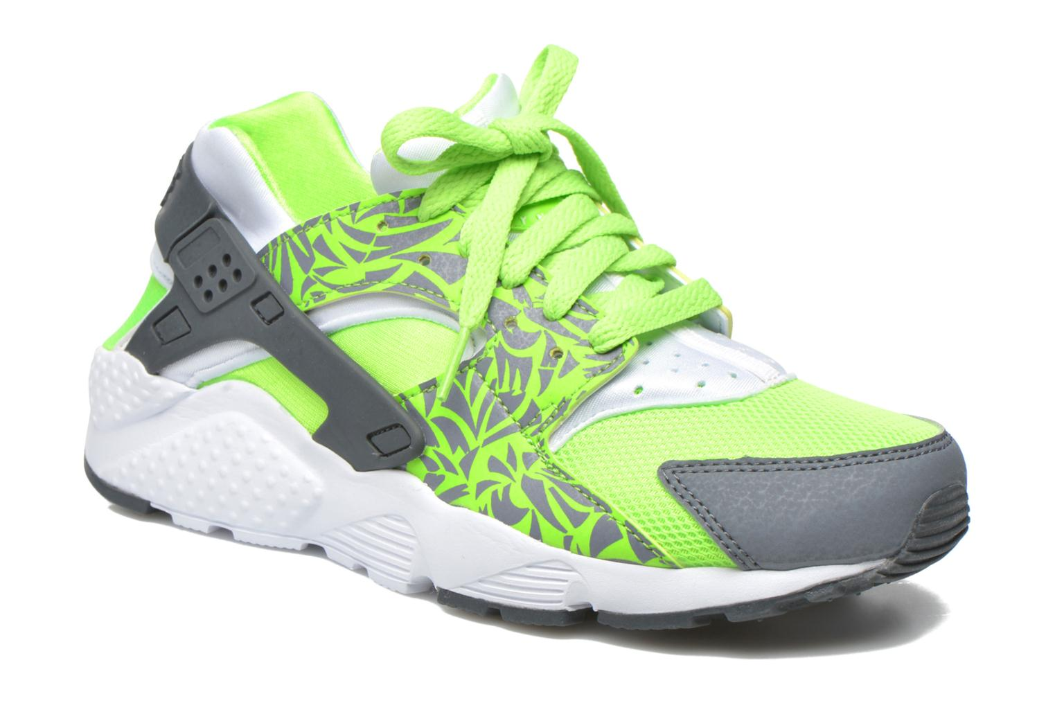 Trainers Nike Nike Huarache Run Print (Gs) Green detailed view/ Pair view