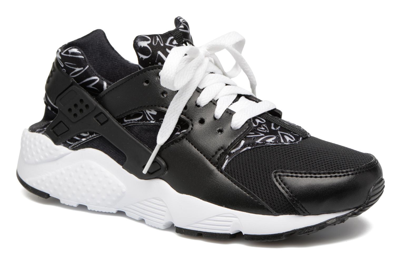 Baskets Nike Nike Huarache Run Print (Gs) Noir vue détail/paire