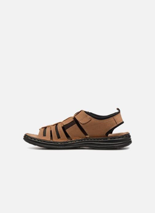 Sandales et nu-pieds Roadsign Garibou Marron vue face