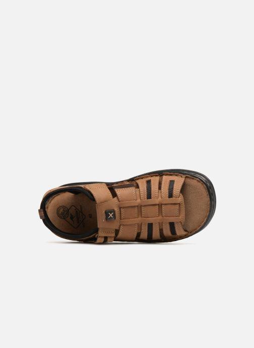 Sandales et nu-pieds Roadsign Garibou Marron vue gauche