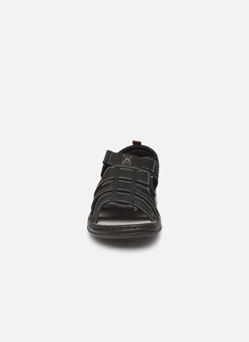 Sandales et nu-pieds Roadsign Garibou Noir vue portées chaussures
