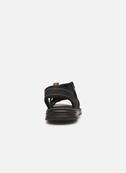 Sandales et nu-pieds Roadsign Garibou Noir vue droite